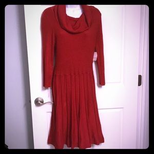 LIZ CLAIBORNE red sweater dress. NWT.  Sz L